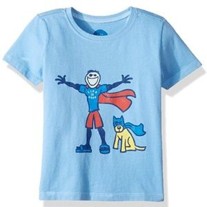 Life is Good Blue 2T Superhero T-shirt